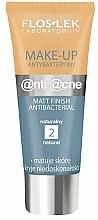 Fragrances, Perfumes, Cosmetics Antibacterial Mattifying Cream - Floslek Anti Acne Make Up