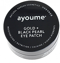 Fragrances, Perfumes, Cosmetics Gold & Black Pearl Eye Patches - Ayoume Gold + Black Pearl Eye Patch