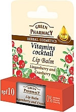 """Fragrances, Perfumes, Cosmetics Lip Balm """"Lingonberry and Cranberry"""" - Green Pharmacy Lip Balm With Lingonberry And Cranberry"""