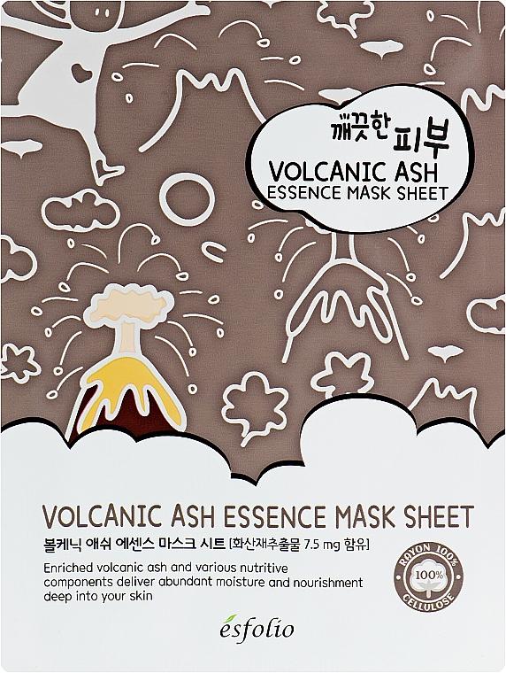 Volcanic Ash Sheet Mask - Esfolio Pure Skin Volcanic Ash Essence Mask Sheet
