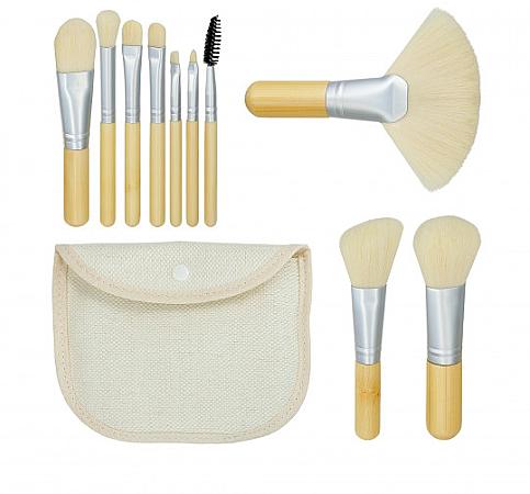 "Makeup Brush Set ""Bamboo White"" 10pcs + bag - Tools For Beauty"