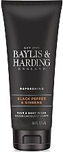 "Fragrances, Perfumes, Cosmetics Shower Gel and Shampoo ""2 in 1"" - Baylis & Harding Black Pepper & Ginseng"