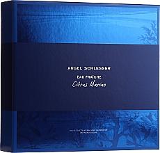Fragrances, Perfumes, Cosmetics Angel Schlesser Eau Fraiche Citrus Marino - Set (edt/100ml+sh/gel/150ml)