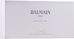 Fragrances, Perfumes, Cosmetics Set - Balmain Paris Hair Couture Gold Brush Set Mini (h/silk/50ml + brush + mirror)
