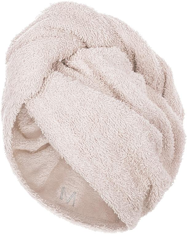 Hair Drying Turban, beige - MakeUp