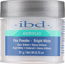 Fragrances, Perfumes, Cosmetics Acrylic Powder, Bright White - IBD Flex Powder Bright White