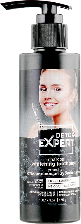 Whitening Charcoal Toothpaste - Detox Expert Charcoal Whitening Toothpaste