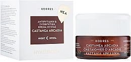 Fragrances, Perfumes, Cosmetics Face Cream - Korres Castanea Arcadia Antiwrinkle & Firming Night Cream for All Skin Types