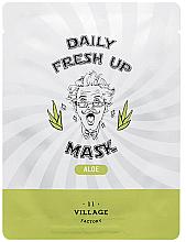 Fragrances, Perfumes, Cosmetics Aloe Extract Sheet Mask - Village 11 Factory Daily Fresh Up Mask Aloe