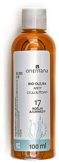 "Anti-Cellulite Oil ""17 Ayurvedic Herbs"" - Orientana Bio Oil"
