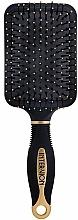 Fragrances, Perfumes, Cosmetics Pneumatic Hair Brush 'Shovel', 499250, Black-Gold - Inter-Vion