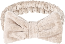 """Fragrances, Perfumes, Cosmetics Cosmetic Hair Band, beige """"Wow Bow"""" - Makeup Beige Hair Band"""