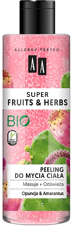 """Body Peeling """"Prickly Pear and Amaranth"""" - AA Super Fruits & Herbs"""