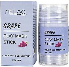 Fragrances, Perfumes, Cosmetics Grape Facial Mask Stick - Melao Grape Clay Mask Stick