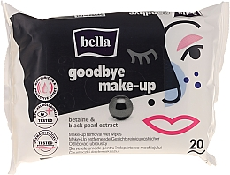 Fragrances, Perfumes, Cosmetics Makeup Remover Wet Wipes, 20 pcs. - Bella