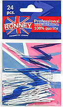 Fragrances, Perfumes, Cosmetics Wavy Bobby Pins, white 60 mm, 24 pcs. - Ronney White Hair Bobby Pins