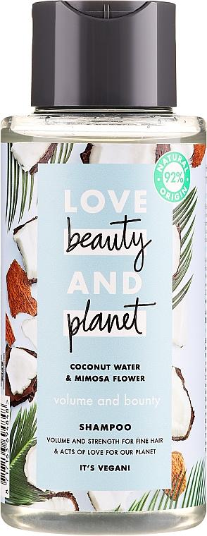 "Hair Shampoo ""Volume & Bounty"" - Love Beauty&Planet Coconat Water & Mimosa Flower"