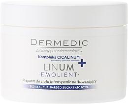 Fragrances, Perfumes, Cosmetics Intensely Moisturizing Body Cream - Dermedic Linum Emolient Ultra Rich Body Cream