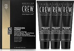 Fragrances, Perfumes, Cosmetics Grey Hair Coverage System (Level 7-8) 3x40 ml - American Crew Precision Blend Light