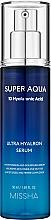 Fragrances, Perfumes, Cosmetics Moisturizing Face Serum - Missha Super Aqua Ultra Hyalron Serum