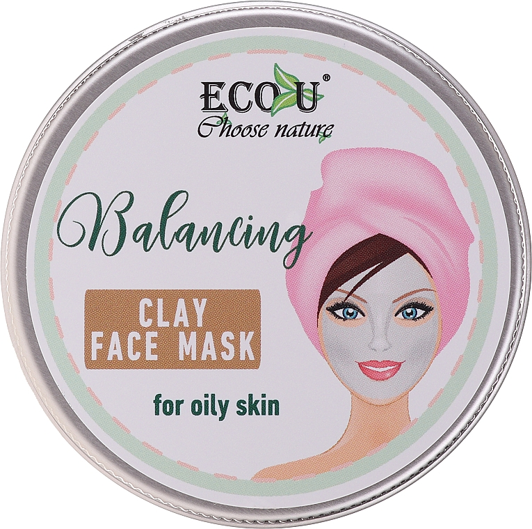Balancing Clay Face Mask for Oily Skin - Eco U Balancing Clay Face Mask For Oily Skin