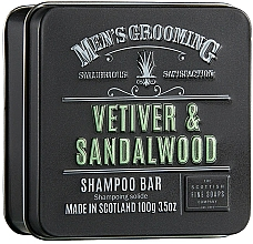 "Fragrances, Perfumes, Cosmetics Hair Shampoo ""Vetiver & Sandalwood"" - Scottish Fine Soaps Mens Grooming Vetiver & Sandalwood Shampoo Bar"