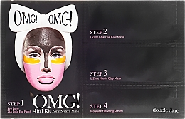Fragrances, Perfumes, Cosmetics 4-in-1 Facial Cleansing Mask - Double Dare OMG! 4in1 Kit Zone System Mask
