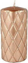 Fragrances, Perfumes, Cosmetics Decorative Candle, 7x14cm, pink-golden - Artman Florence Candle
