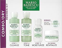 Fragrances, Perfumes, Cosmetics Set - Mario Badescu Combo Dry Regimen Kit (gel/59ml+lot/59ml+cr/29ml+mask/14g+eye/cr/3g)