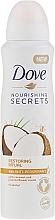 "Fragrances, Perfumes, Cosmetics Antiperspirant Deodorant ""Coconut and Jasmine"" - Dove Nourishing Secrets Restoring Ritual"