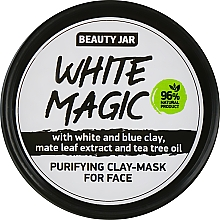 Fragrances, Perfumes, Cosmetics Face Mask with Mate Leaf Extract - Beauty Jar White Magic