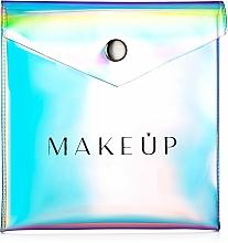 "Fragrances, Perfumes, Cosmetics Clear Makeup Bag for Powder ""Holographic"", 12x12cm - MakeUp"
