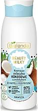 Fragrances, Perfumes, Cosmetics Shower and Bath Milk - Bielenda Beauty Milky Moisturizing Coconut Shower & Bath Milk
