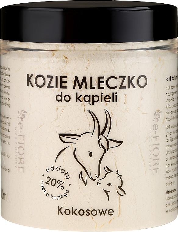 """Goat Milk for Bath """"Coconut"""" - E-Fiore Coconut Bath Milk"""