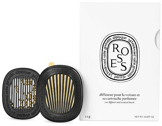 Car Air Freshener - Diptyque Car Diffuser With Roses Insert — photo N1