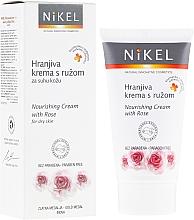 Fragrances, Perfumes, Cosmetics Nourishing Rose Face Cream - Nikel Nourishing Cream with Rose