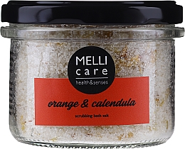 Fragrances, Perfumes, Cosmetics Natural Exfoliating Bath Salt - Melli Care Orange & Calendula Scrubbing Bath Salt