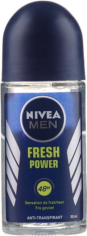 Roll-on Antiperspirant - Nivea Roll-On Men Fresh Power — photo N1