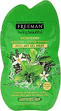 "Fragrances, Perfumes, Cosmetics Facial Peel-Off Mask ""Brightening"" with Green Tea & Orange Blossom - Freeman Feeling Beautiful Brightening Green Tea+Ornge Blossom Peel-Off Gel Mask (minisize)"