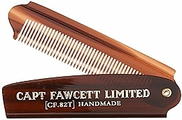 Fragrances, Perfumes, Cosmetics Folding Pocket Beard Comb, CF82T - Captain Fawcett Folding Pocket Beard Comb