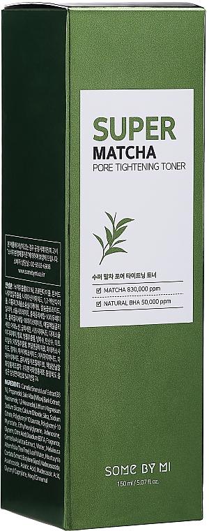 Acid Face Toner - Some By Mi Super Matcha Pore Tightening Toner — photo N2