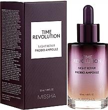 Fragrances, Perfumes, Cosmetics Rejuvenating Serum-Ampoule - Missha Time Revolution Night Repair Night Repair Probio Ampoule Serum