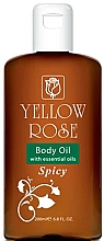 Fragrances, Perfumes, Cosmetics Softening Body Oil - Yellow Rose Body Oil With Essential Oils Spicy