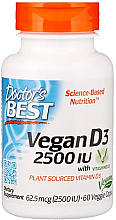 Fragrances, Perfumes, Cosmetics Vegan Vitamin D3 with Vitashine D3, 2500 IU, capsules  - Doctor's Best