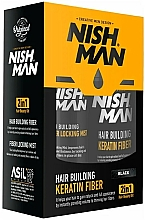 Fragrances, Perfumes, Cosmetics Building Keratin Fiber Set - Nishman Hair Building Keratin Fiber (powder/21g + mist/100ml) (Medium Brown)