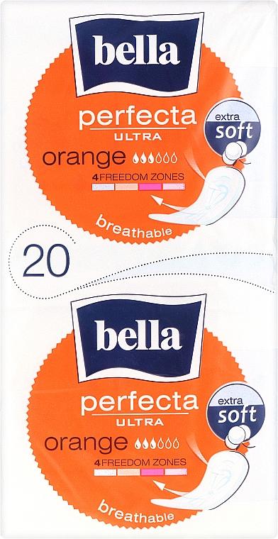 Sanitary Pads Perfecta Ultra Orange, 10+10 pcs - Bella