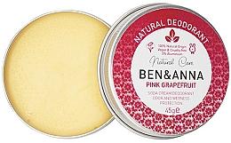 Fragrances, Perfumes, Cosmetics Natural Creamy Deodorant - Ben & Anna Pink Grapefruit Soda Cream Deodorant