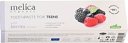 """Fragrances, Perfumes, Cosmetics Teen Toothpaste """"Berry Mix"""", 6-14 years - Melica Organic Toothpaste For Teens With Berries Extract"""