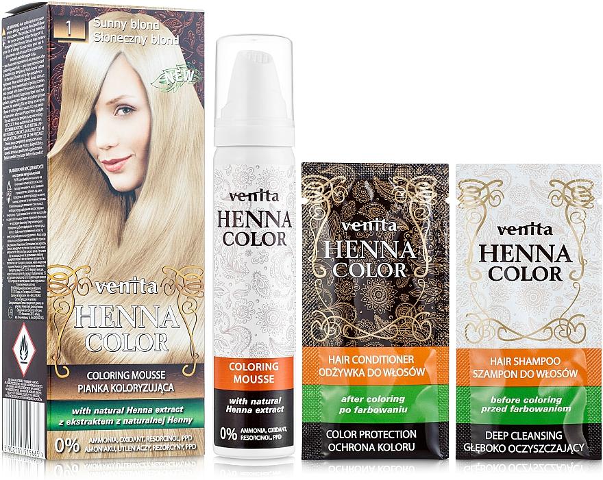 Coloring Hair Mousse - Venita Henna Color Coloring Mousse