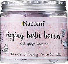 Fragrances, Perfumes, Cosmetics Bath Bomb Set - Nacomi Fizzing Bath Bomb With Grape Seed Oil (bomb/4pcs)